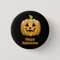 Pumpkin Halloween Button