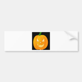Pumpkin halloween design bumper sticker