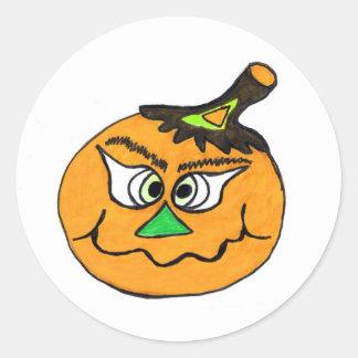 Pumpkin Halloween Funny Sticker