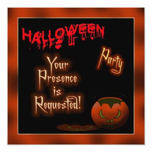 Pumpkin Halloween invitation