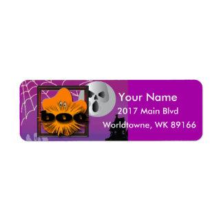 Pumpkin Halloween moon Label