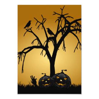 Pumpkin Halloween Party Invitation-burnt orange Card