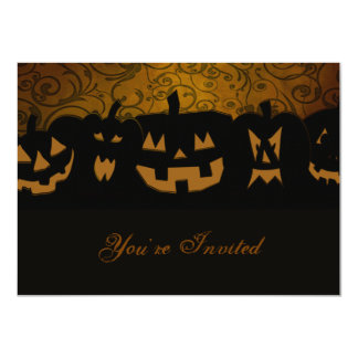 Pumpkin Halloween Party Personalized 4.5x6.25 Paper Invitation Card