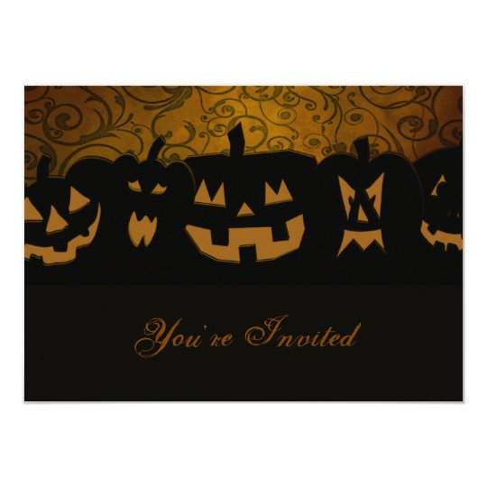 Pumpkin Halloween Party Personalized Card