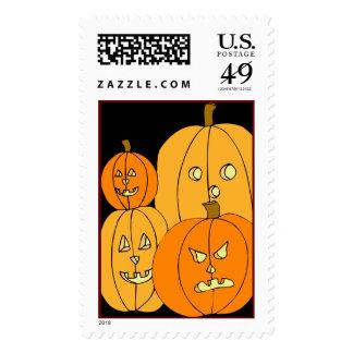 Pumpkin Halloween Postage stamps
