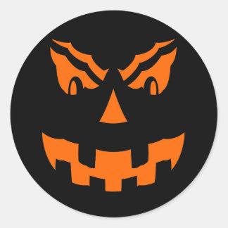 pumpkin halloween classic round sticker