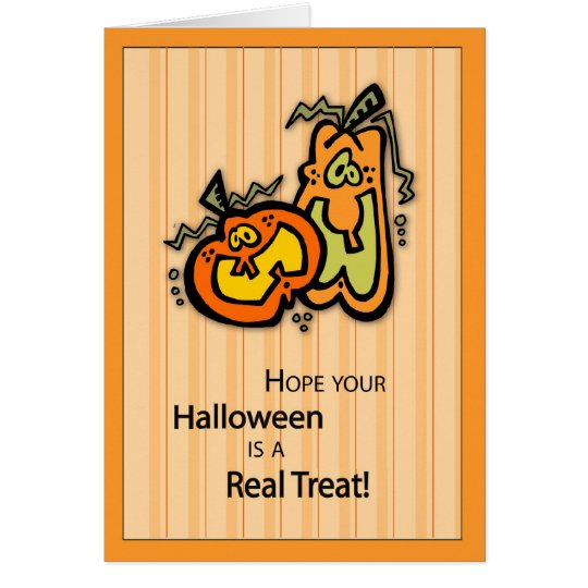 Pumpkin Halloween Treat Card