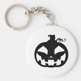 Pumpkin Happy Basic Round Button Keychain