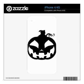 Pumpkin Happy iPhone 4 Decals