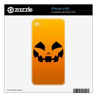 Pumpkin Happy Skins For iPhone 4S