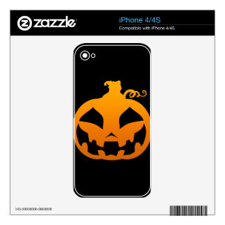 Pumpkin Happy Skins For The iPhone 4