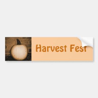 Pumpkin Harvest Car Bumper Sticker