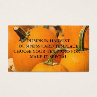 PUMPKIN HARVEST BUSINESS CARD TEMPLATE