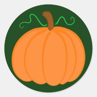 Pumpkin Harvest Classic Round Sticker