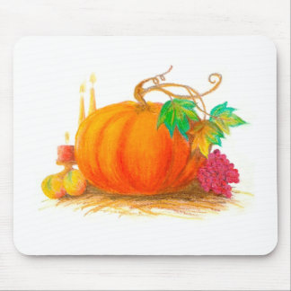 Pumpkin harvest mouse pad