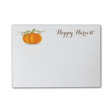 Halloween Themed Pumpkin Harvest Post Notes