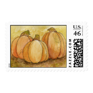 Pumpkin Harvest Postage Stamp