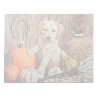 Pumpkin Harvest Puppy Notepad