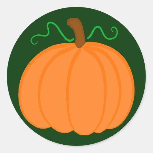Pumpkin Harvest Round Stickers