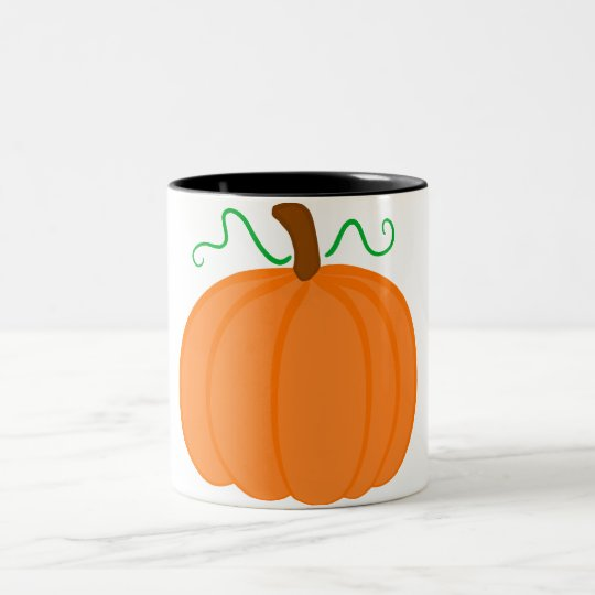 Pumpkin Harvest Two-Tone Coffee Mug