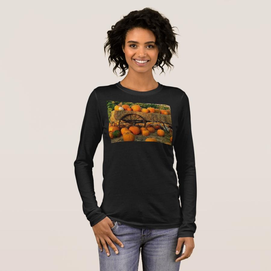 pumpkin hayride long sleeve T-Shirt - Best Selling Long-Sleeve Street Fashion Shirt Designs