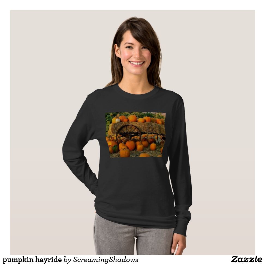 pumpkin hayride T-Shirt - Best Selling Long-Sleeve Street Fashion Shirt Designs