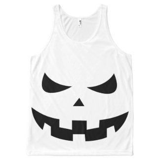 Pumpkin head All-Over-Print tank top