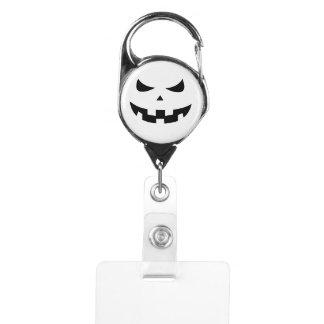 Pumpkin head badge holder