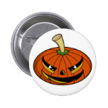 Pumpkin Head Badge Pinback Button