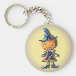 PUMPKIN HEAD by SHARON SHARPE Keychain