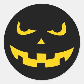 Pumpkin head classic round sticker