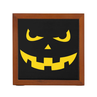 Pumpkin head desk organizer
