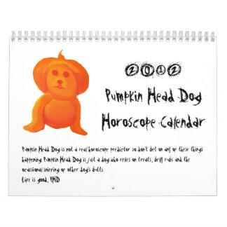 Pumpkin Head Dog Calendar