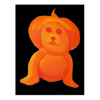 Pumpkin Head Dog Postcard