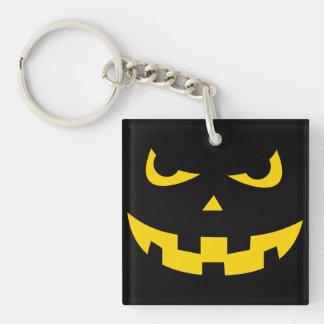 Pumpkin head Double-Sided square acrylic keychain