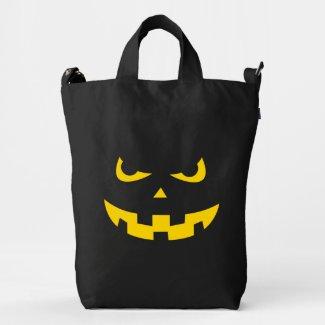 Pumpkin head duck canvas bag