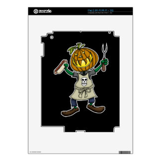 Pumpkin Head Grilling Decal For The iPad 2