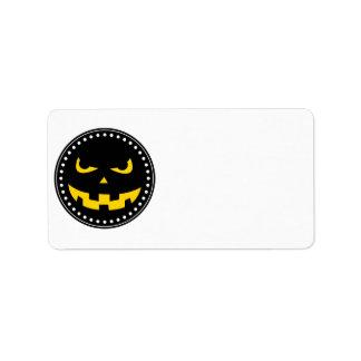 Pumpkin head address label