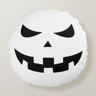 Pumpkin head round pillow