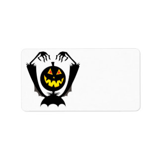pumpkin head monster personalized address labels