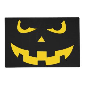 Pumpkin head laminated placemat
