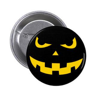 Pumpkin head pinback button