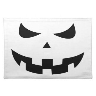 Pumpkin head cloth place mat