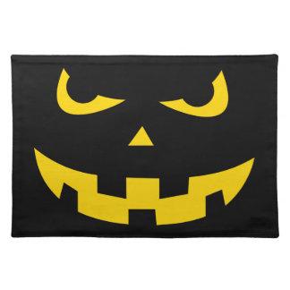 Pumpkin head cloth placemat