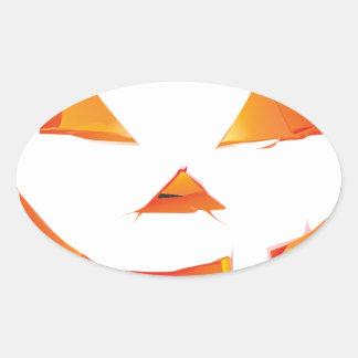 Pumpkin Head Oval Stickers