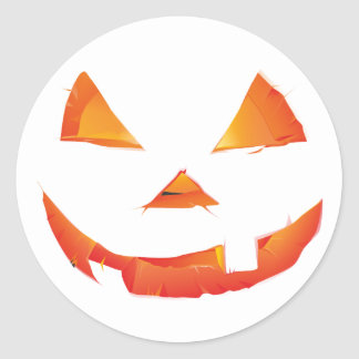 Pumpkin Head Round Stickers