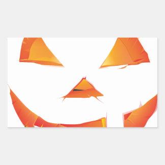 Pumpkin Head Rectangular Sticker