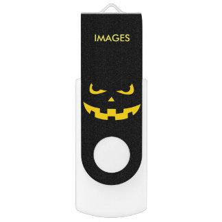 Pumpkin head swivel USB 2.0 flash drive