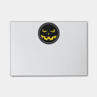 Pumpkin head post-it® notes