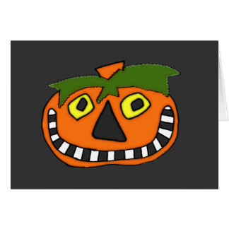 Pumpkin Head Trick or Treat Greeting Cards